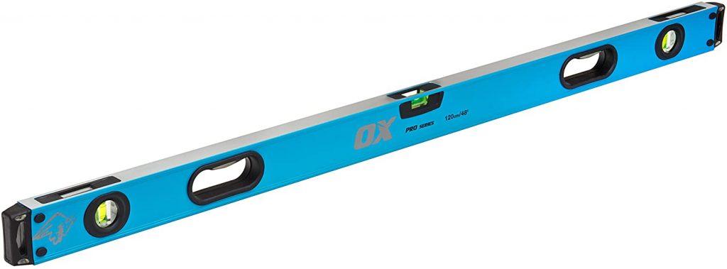 Ox bricklaying tools Spirit Level Pro Level 1200mm, Blue