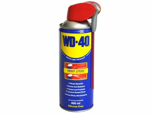 cleaning tools with wd40