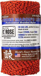 W Rose Super Tough Professional Bonded Braided Nylon Mason's Line orange