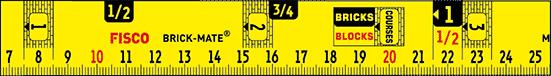 Brickies gauge tape measure