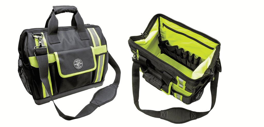 KLEIN Tools Tradesman Pro High-Visibility Bricklayers Tool Bag