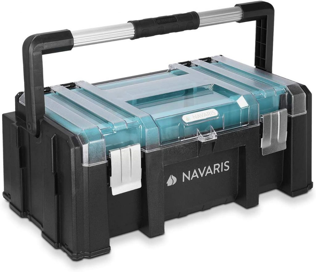 Navaris Tool Box 20 Inch - 51 cm Plastic Toolbox