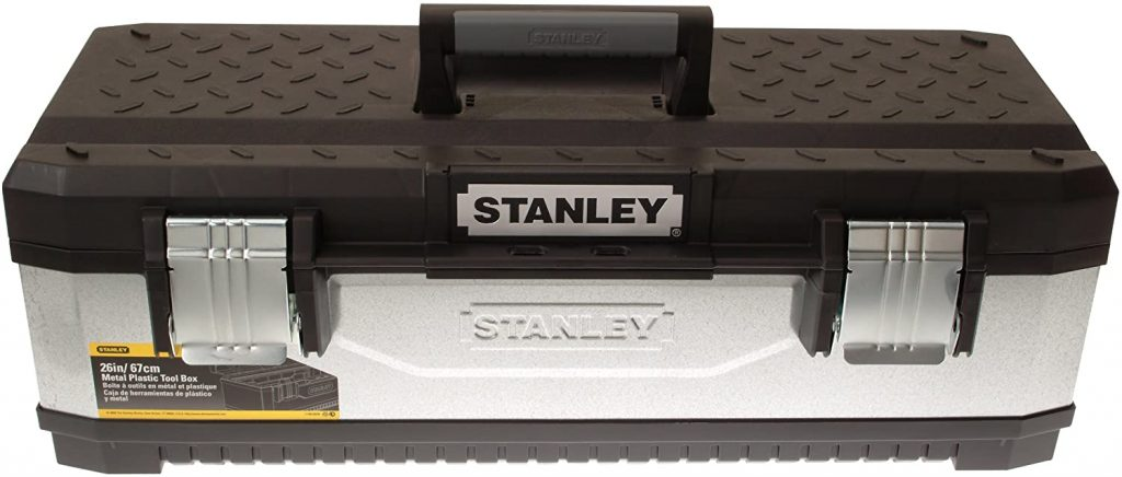 STANLEY Galvanised bricklayers Tool box Chest