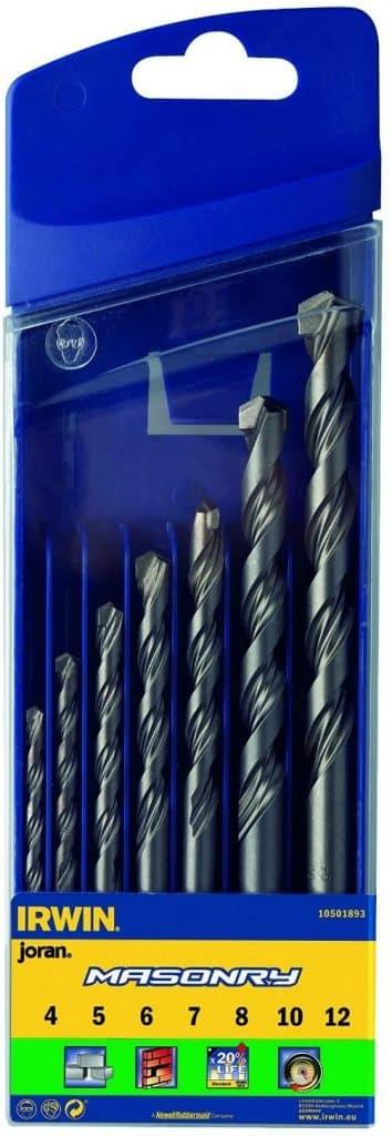 Irwin Masonry Drill Bit for Cordless Drills, 4mm-12mm, 7 Piece Set