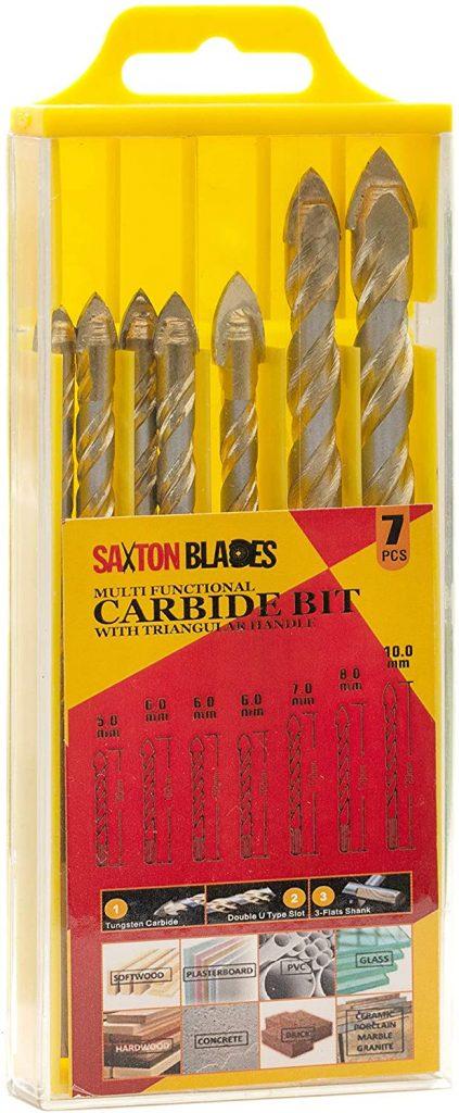 Saxton 7pc Multi-Material Tile Drill Bits Set