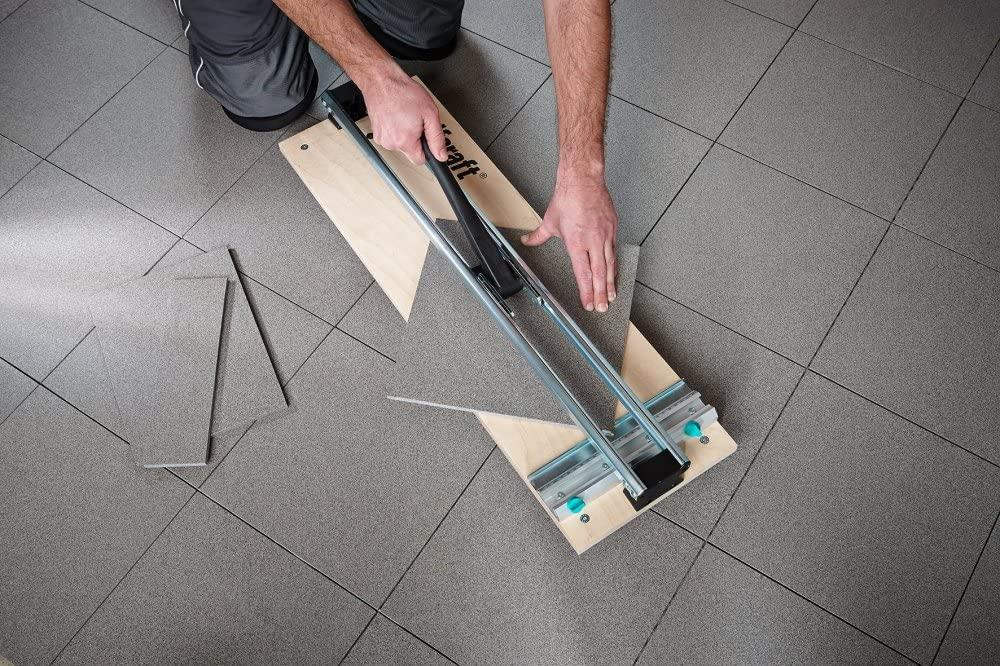 Wolfcraft Manual Tile Cutter on floor
