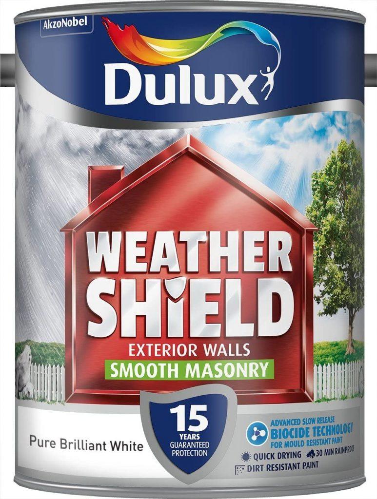 Pure Brilliant White Dulux Weather Shield Smooth Masonry Paint