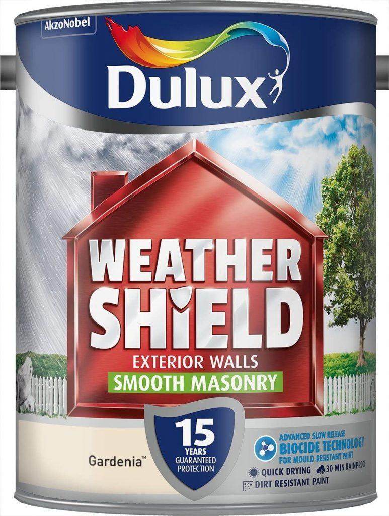 Gardenia Dulux Weather Shield Smooth Masonry Paint, 5 L