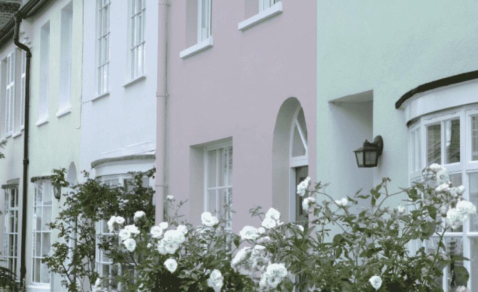 sandtex painted on houses