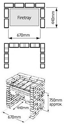 brick barbecue dimensions