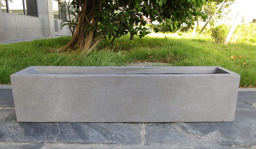 concrete planter finished