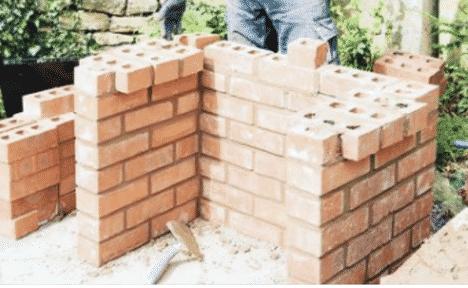 building the brick barbecue