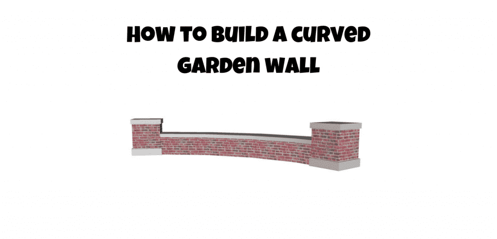 how to build a curved garden wall