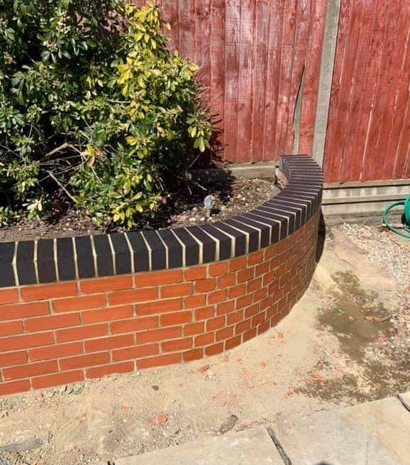 brick curved garden wall