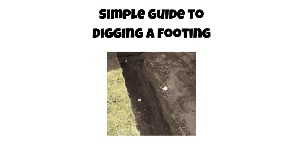 digging a footing