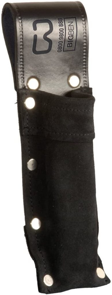 Big Ben Long Soft Level Pouch Black Leather